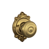 Schlage Georgian Antique Brass Round Push-Button Lock Residential Privacy Door Knob