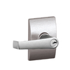 Schlage F Decorative Century Collections Elan Traditional Satin Chrome Universal-Handed Keyed Entry Door Lever