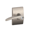 Schlage F Decorative Century Collections Manhattan Traditional Satin Nickel Universal-Handed Keyed Entry Door Lever