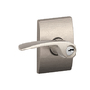 Schlage Merano Satin Nickel Residential Keyed Entry Door Lever