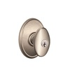 Schlage Siena Satin Nickel Residential Keyed Entry Door Knob