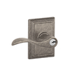 Schlage F Decorative Addison Collections Accent Traditional Distressed Nickel Universal-Handed Keyed Entry Door Lever
