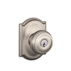 Schlage Georgian Satin Nickel Round Residential Keyed Entry Door Knob