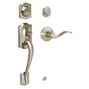 Schlage Camelot Satin Nickel Residential Single-Lock Keyed Door Handleset