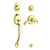 Schlage Plymouth Bright Brass Residential Single-Lock Keyed Door Handleset