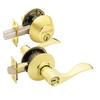 Schlage Accent Bright Brass Single-Lock Keyed Entry Door Handleset