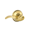 Schlage F Avanti Traditional Bright Brass Universal-Handed Keyed Entry Door Lever