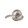 Schlage F Avanti Traditional Satin Nickel Universal-Handed Keyed Entry Door Lever