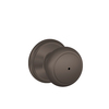 Schlage Andover Oil-Rubbed Bronze Round Push-Button Lock Residential Privacy Door Knob