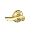 Schlage F Champagne Traditional Bright Brass Universal-Handed Keyed Entry Door Lever