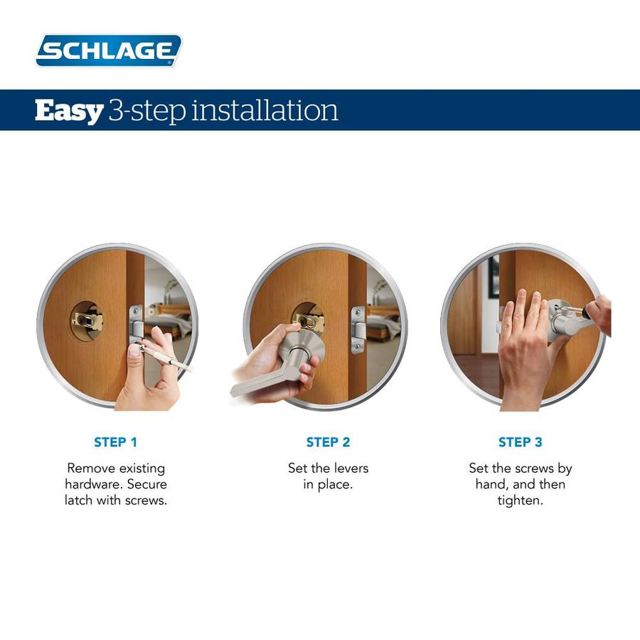Schlage F10-FLA Flair Passage Door Lever Set