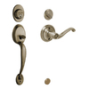 Schlage Plymouth Antique Brass Residential Single-Lock Keyed Door Handleset