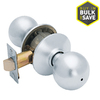 Schlage Privacy Orbit Satin Chrome Round Push Button-Lock Privacy Door Knob