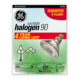 GE 90-Watt PAR38 Bright White Dimmable Halogen Spotlight Bulb