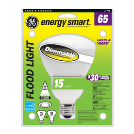GE 15-Watt (65W) BR30  Base Soft White (2700K) CFL Bulb ENERGY STAR
