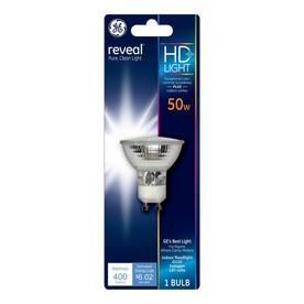GE 50-Watt GU10 G5.3 Base Bright White Dimmable Halogen Flood Light Bulb