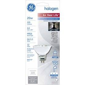 GE 20-Watt MR16 G5.3 Base Bright White Dimmable Halogen Flood Light Bulb