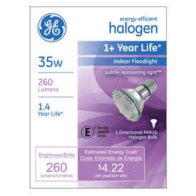 GE 35-Watt PAR20 Bright White Dimmable Halogen Flood Light Bulb
