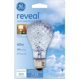 GE 60-Watt A19 Color-Enhancing Dimmable Halogen Light Bulb