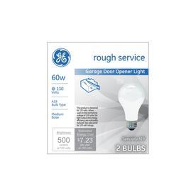 GE 2-Pack 60-Watt A19 Medium Base (E-26) Soft White Dimmable Incandescent Garage Door Light Bulbs