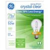 GE 2-Pack 53-Watt A19 Bright White Dimmable Halogen Light Bulbs