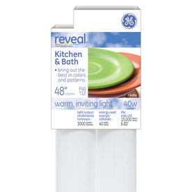 GE 2-Pack 40-Watt 0K Color-Enhancing Fluorescent Tube Light Bulbs (Common: 48-in; Actual: 48-in)