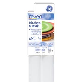 GE 2-Pack 32-Watt 0K Color-Enhancing Fluorescent Tube Light Bulbs (Common: 48-in; Actual: 48-in)