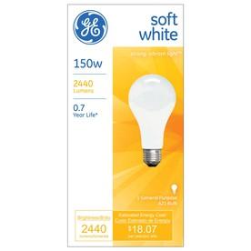 GE 150-Watt A21 Soft White Dimmable Incandescent Light Bulb