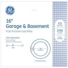 GE 40-Watt 4,100K Cool White Circline Fluorescent Tube Light Bulb (Common: 16-in; Actual: 16-in)