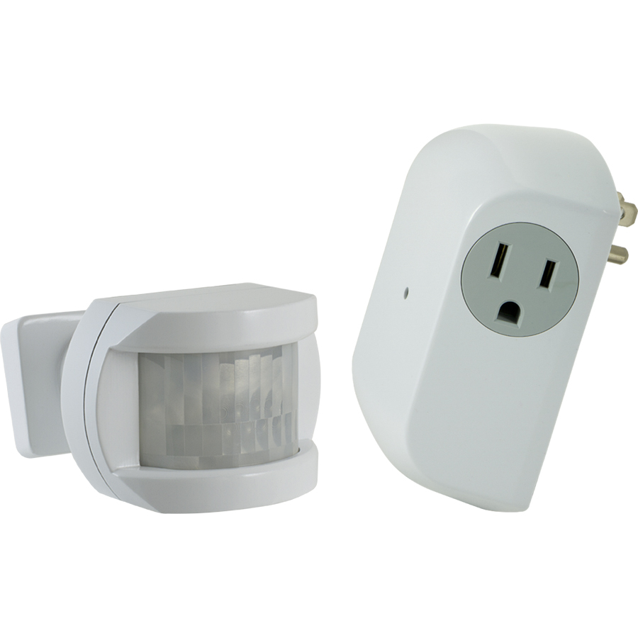 utilitech white motion sensor dusk to dawn light control at. Black Bedroom Furniture Sets. Home Design Ideas