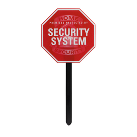GE 9-in x 9-in Home Security Sign