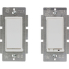 GE 2-Piece10-Amp White Double Pole Decorator Light Switch