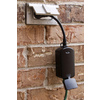 GE 125-Volt 15-Amp Black Single Electrical Outlet (Works with Iris)
