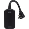 GE 15-Amp Black Single Electrical Outlet with Iris Technology