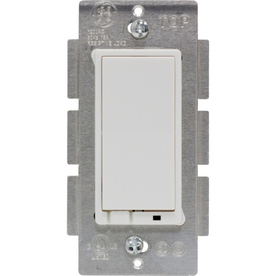GE 15-Amp White Decorator Light Switch with Iris Technology