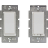 GE 2-Piece 15-Amp White 3-Way Decorator Light Switch with Iris Technology