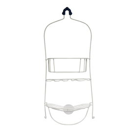 Style Selections 25-in H Over The Showerhead Vinyl-Coated Wire Hanging Shower Caddy