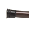 Style Selections 72-in Oil Rubbed Bronze Painted Steel Adjustable Shower Rod