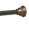 allen + roth 72-in Oil Rubbed Bronze Painted Steel Adjustable Shower Rod