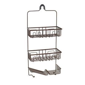 allen + roth 26-1/2-in H Over The Showerhead Steel Hanging Shower Caddy