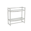 allen + roth 21-in W x 20-in H x 8.5-in D Glass and Wire Wall Mounted Shelving