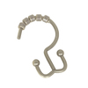 allen + roth 12-Pack Brushed Nickel Double Shower Hooks