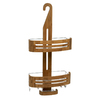 allen + roth 25-3/4-in H Over The Showerhead Wood Hanging Shower Caddy