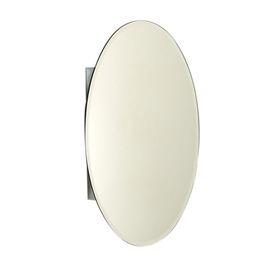 Zenith Designer 20-in x 30-in Oval Surface/Recessed Mirrored Aluminum Medicine Cabinet