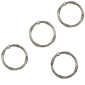 allen + roth 12-Pack Brushed Nickel Single Shower Rings
