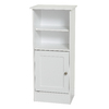 Style Selections 14.63-in W x 34-in H x 10.5-in D White MDF Freestanding Linen Cabinet
