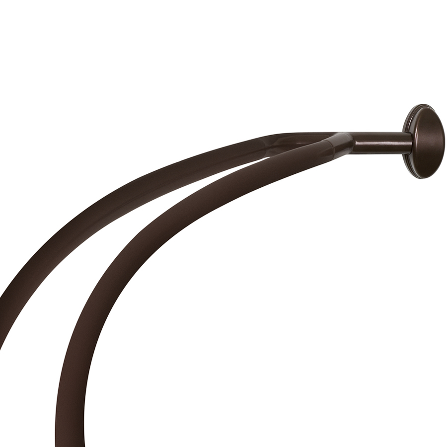 shop allen roth 72 in bronze curved adjustable shower rod at