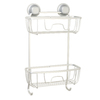 Zenna Home Satin Chrome Aluminum Bathtub Caddy