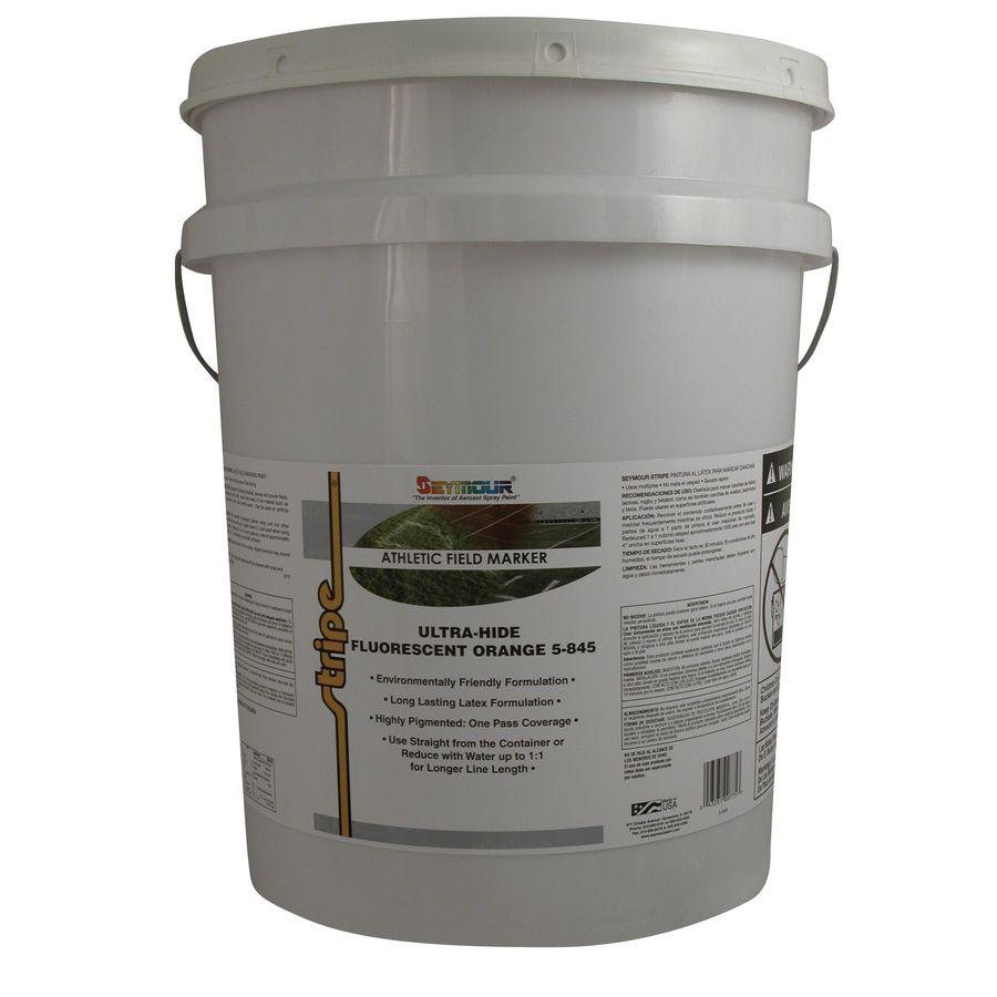 Shop Seymour 5 Gallon Size Container Exterior Fluorescent Orange Base Paint Actual Net Contents