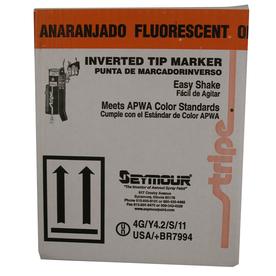 SEYMOUR 17-oz Fluorescent Orange Flat Spray Paint